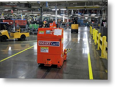 Car Factory Automated Delivery System Metal Print by Jim West