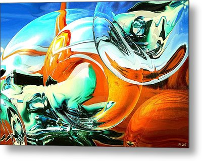 Car Fandango - Abstract Art Metal Print by Art America Gallery Peter Potter