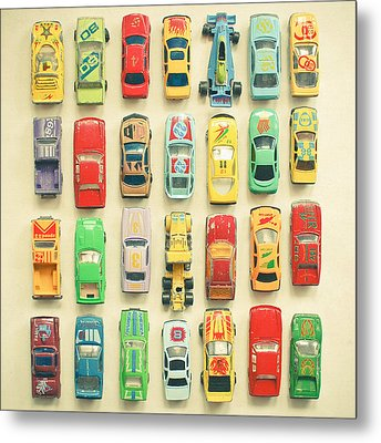 Car Park Metal Print by Cassia Beck