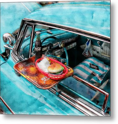 Classic Car Metal Print featuring the photograph Car Side  by Aaron Berg