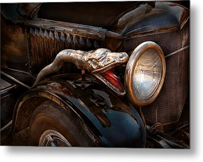 Car - Steamer - Snake Charmer  Metal Print by Mike Savad