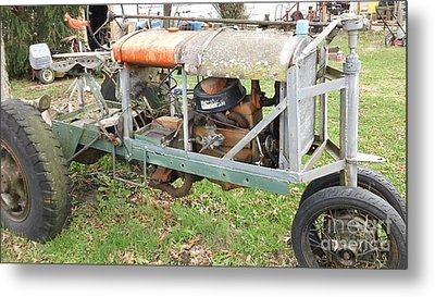 Car To Tractor Metal Print by Amanda Reinier