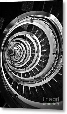 Time Tunnel Spiral Staircase In Sao Paulo Brazil Metal Print