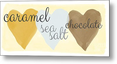 Caramel Sea Salt And Chocolate Metal Print by Linda Woods