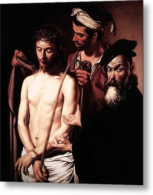 Caravaggio Eccehomo Metal Print by Caravaggio