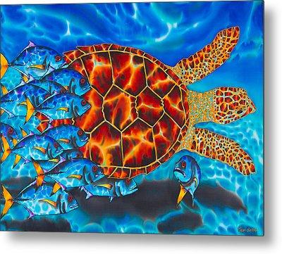 Carbbean Sea Turtle Metal Print by Daniel Jean-Baptiste