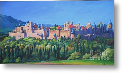 Carcassone   Metal Print by John Clark