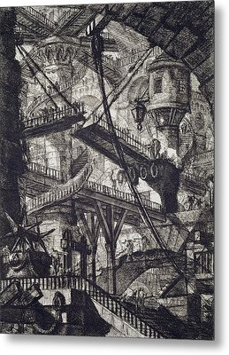 Carceri Vii Metal Print by Giovanni Battista Piranesi