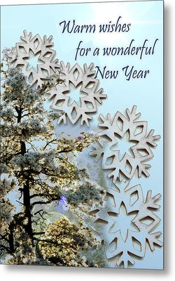Card For New Year 2 Metal Print by Kae Cheatham
