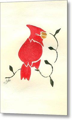 Cardinal Metal Print by Lori Johnson