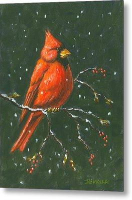 Cardinal Metal Print by Richard De Wolfe