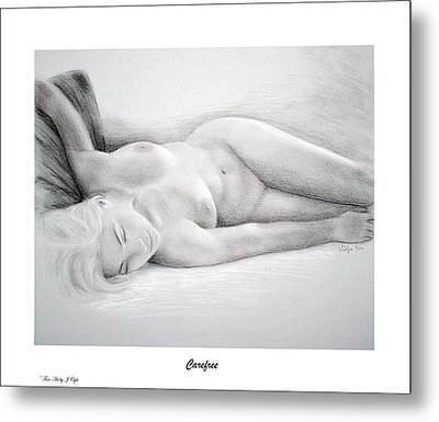 Metal Print featuring the painting Care Free-print Only by Joseph Ogle