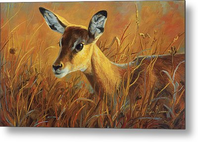 Careful Metal Print by Lucie Bilodeau