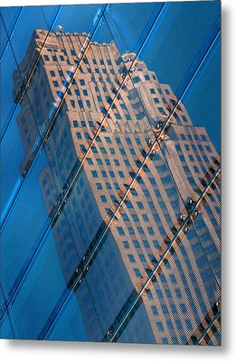 Carew Tower Reflection Metal Print