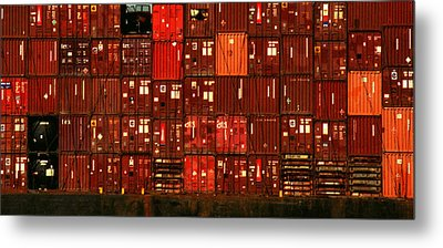 Cargo Containers Port Of Seattle Metal Print