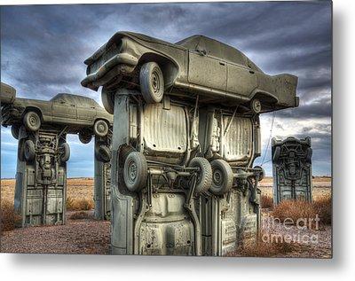 Carhenge Automobile Art 2 Metal Print by Bob Christopher