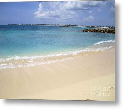 Metal Print featuring the photograph Caribbean Beach Front by Fiona Kennard