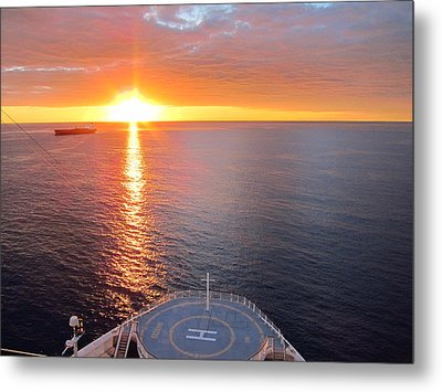 Caribbean Cruise - On Board Ship - 1212185 Metal Print by DC Photographer