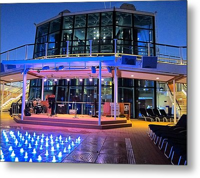 Caribbean Cruise - On Board Ship - 121238 Metal Print by DC Photographer