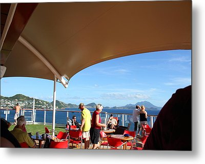 Caribbean Cruise - St Kitts - 121284 Metal Print by DC Photographer