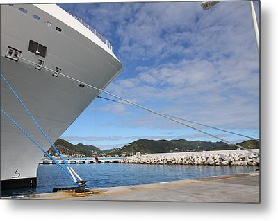 Caribbean Cruise - St Maarten - 12122 Metal Print by DC Photographer