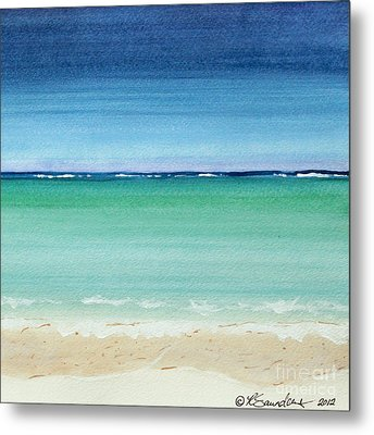 Reaf Ocean Turquoise Waters Square Metal Print