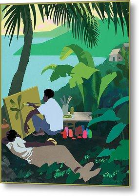 Caribbean Painter Metal Print