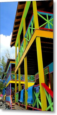 Caribbean Porches Metal Print by Randall Weidner