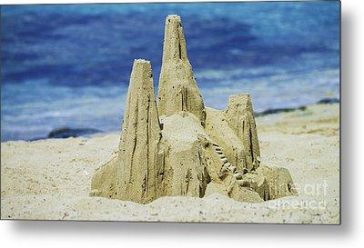 Caribbean Sand Castle  Metal Print by Betty LaRue