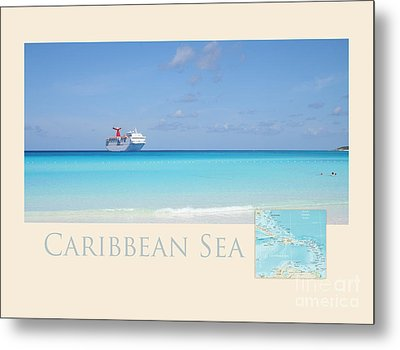 Caribbean Sea Metal Print by Heidi Hermes