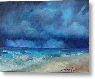 Caribbean Storm Metal Print by Chris Brandley