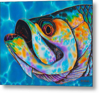Caribbean Tarpon Fish Metal Print by Daniel Jean-Baptiste