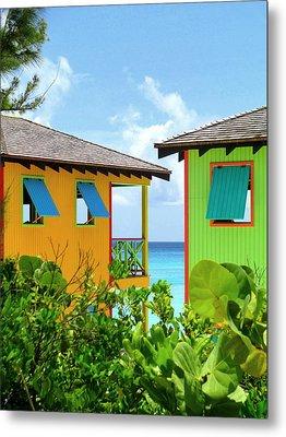 Caribbean Village Metal Print by Randall Weidner