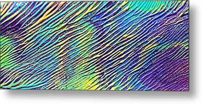 caribbean waves Acryl blurred vision Metal Print by Sir Josef - Social Critic -  Maha Art