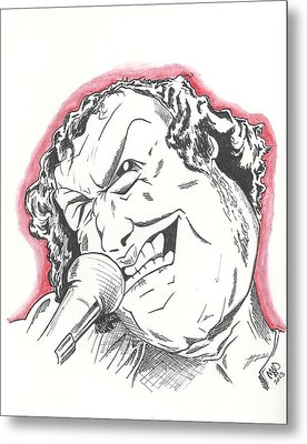 Caricature Joe Cocker Metal Print