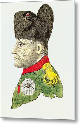 Caricature Of Napoleon Bonaparte Metal Print by English School