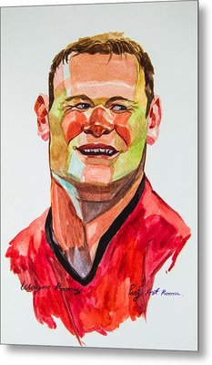 Caricature Wayne Rooney Metal Print