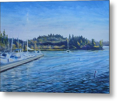 Carilllon Point Marina Metal Print by Charles Smith