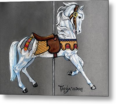 Carl Carmel Carousel Horse Metal Print