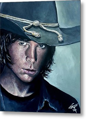 Carl Grimes Metal Print by Tom Carlton
