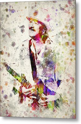 Carlos Santana Metal Print by Aged Pixel