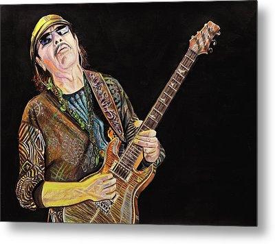 Carlos Santana Metal Print by Chris Benice