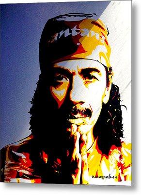 Carlos Santana. Metal Print