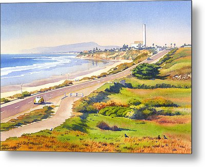 Carlsbad Rt 101 Metal Print by Mary Helmreich