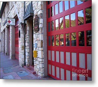 Carmel By The Sea Fire Station Metal Print