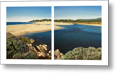 Carmel Lagoon Beach Metal Print by Logan Parsons