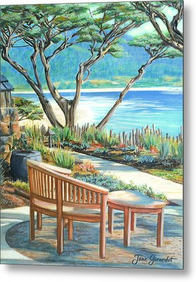 Carmel Lagoon View Metal Print by Jane Girardot