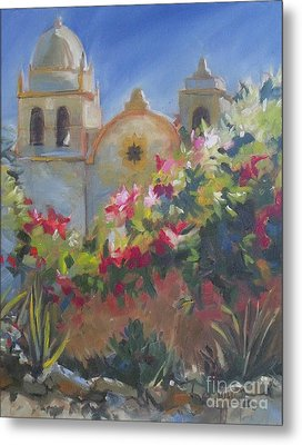 Carmel Mission Metal Print by Mary Hubley