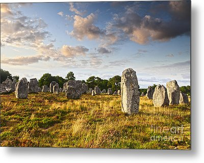 Carnac Alignments Brittany France Metal Print by Colin and Linda McKie