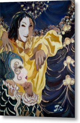 Metal Print featuring the painting Carnevale Venezia by Julie Todd-Cundiff
